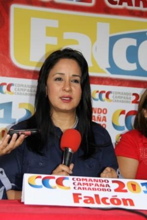 Jefa del CCCFalcón, Stella Lugo de Montilla.